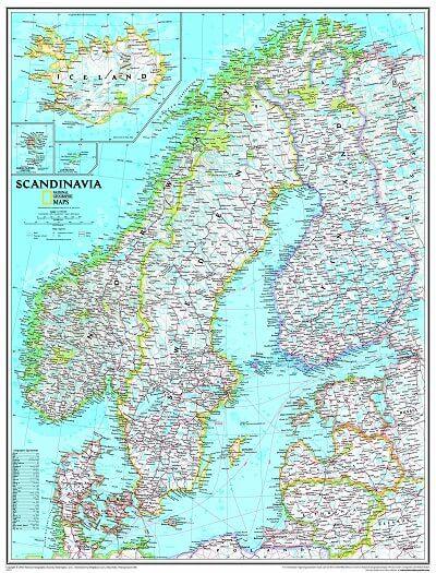 ngs poster skandinavien landkarte 1 das landkartenhaus. Black Bedroom Furniture Sets. Home Design Ideas
