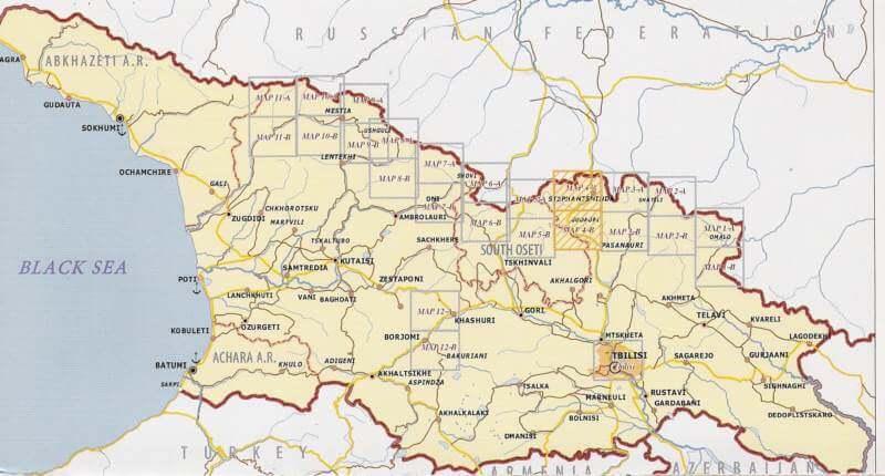 Georgien Karte.Khevi Mt Kazbegi Gudauri Truso Georgien Trekkingkarte 1 50 000 Geoland 4