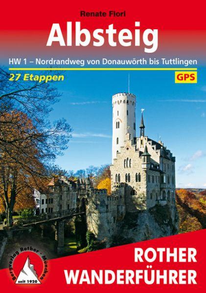 Albsteig - HW1 Nordrandweg Wanderführer - Rother