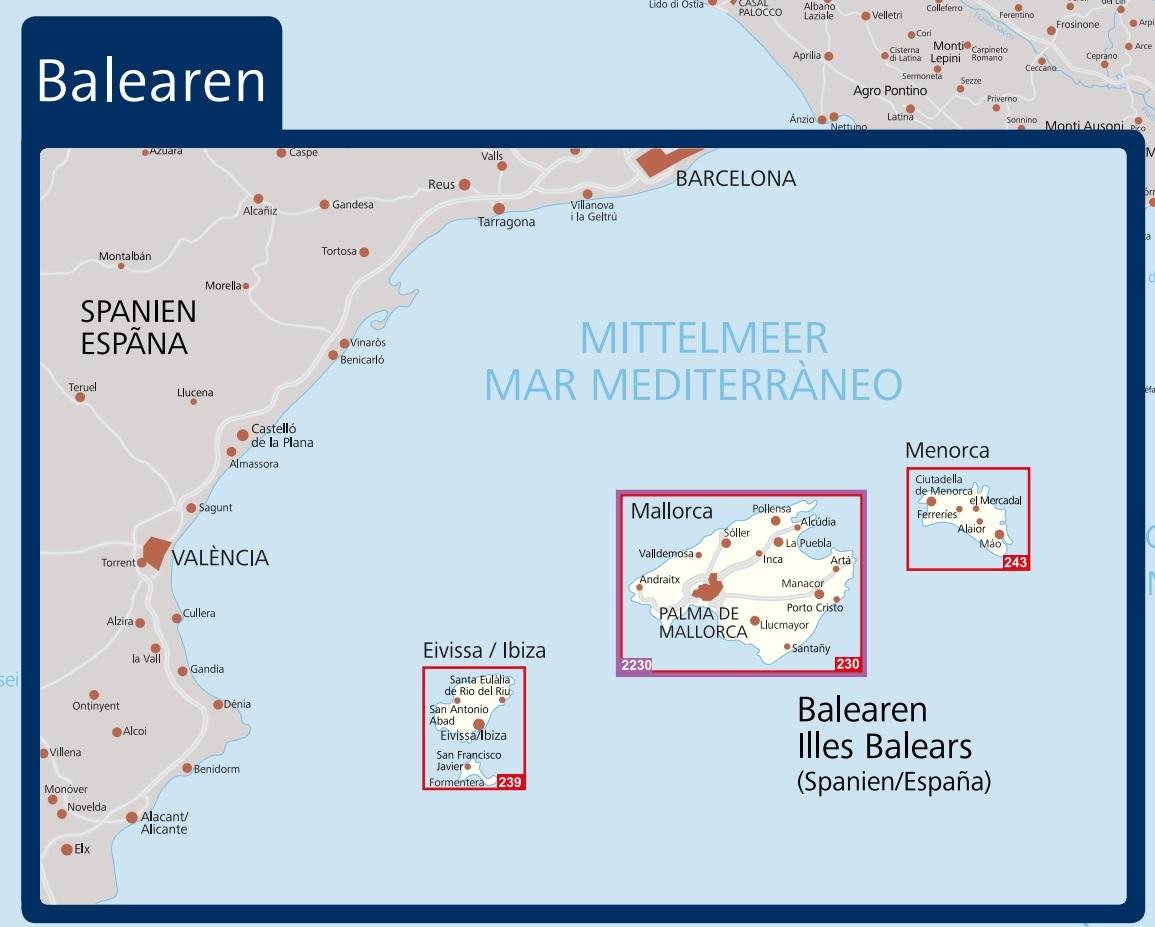 Kompass Karte 230 Mallorca Wanderkarte Radkarte In 1 75 000