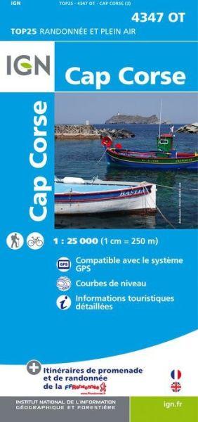 IGN 4347 OT Cap Corse, Korsika Wanderkarte 1:25.000