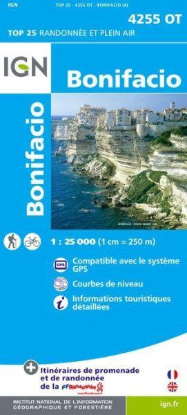 IGN 4255 OT Bonifacio, Korsika Wanderkarte 1:25.000